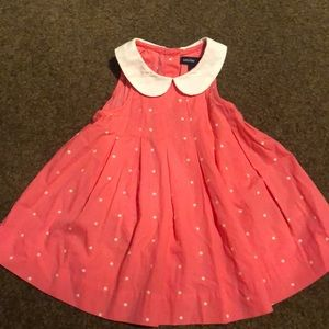 Gap Polka Dot Pink and White Tank Dress 3-6 months